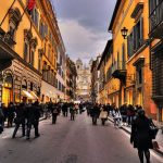 Via dei Condotti shopping streets in Rome