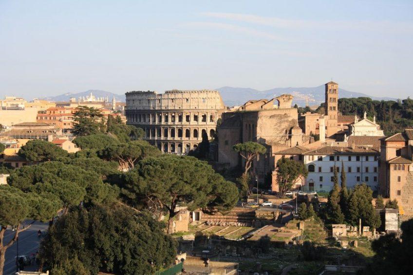 el Coliseo, el Foro Imperial y el Palatino