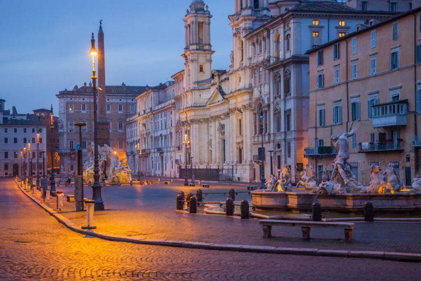 Piazza Navona y el Panteón